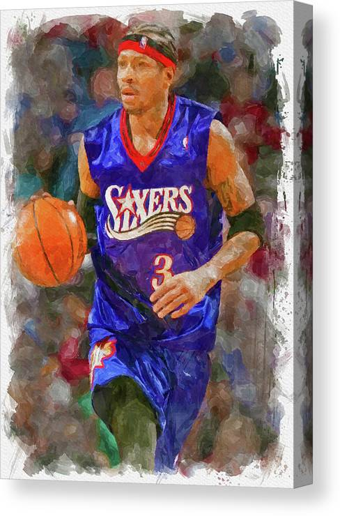 ALLEN IVERSON PRINT Choose Size /& Media Type Canvas or Poster Print A