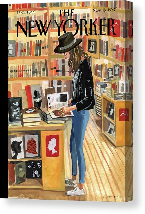 At The Strand Canvas Print featuring the painting At The Strand by Jenny Kroik