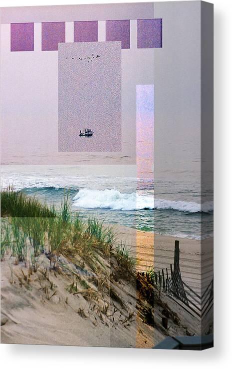 Landscape Canvas Print featuring the digital art Beach Collage 3 by Steve Karol