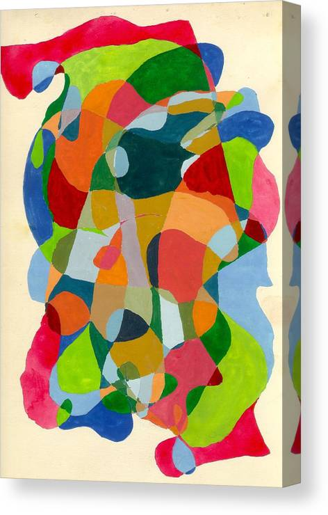 Abstract Canvas Print featuring the painting Blending by Peter Shor