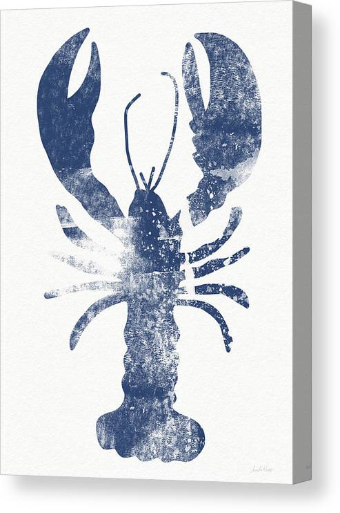Cape Cod Canvas Print featuring the painting Blue Lobster- Art by Linda Woods by Linda Woods