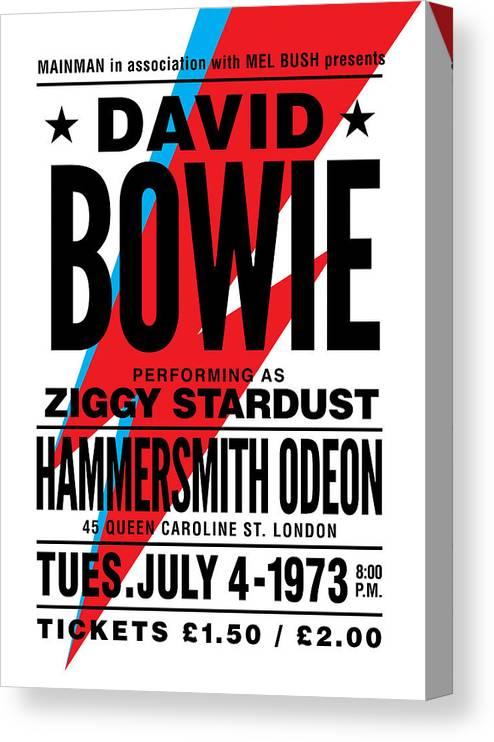 Bowie Poster Canvas Print
