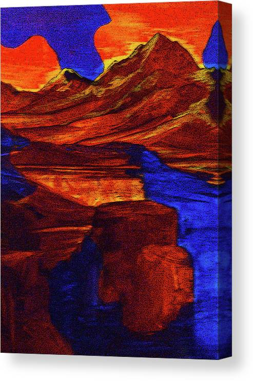 Alternate Reality Canvas Print featuring the painting Causal Creation by Pam Ellis