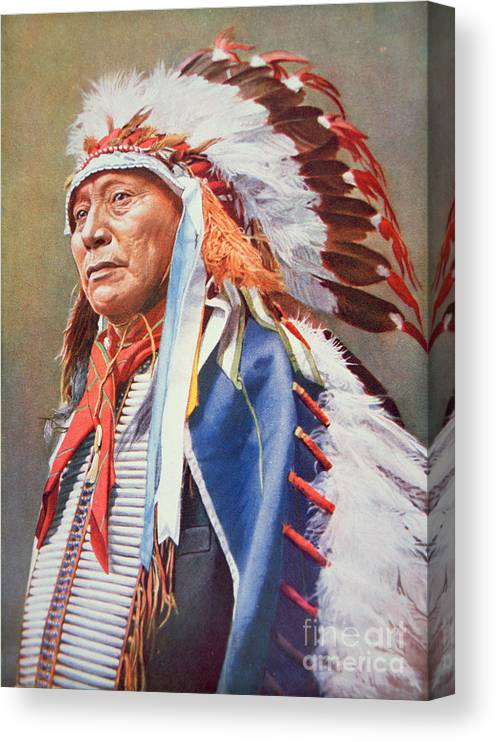 Chief Canvas Print featuring the painting Chief Hollow Horn Bear by American School
