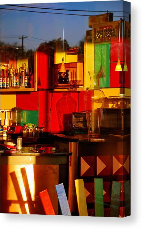 Skip Hunt Canvas Print featuring the photograph Coffee Shop by Skip Hunt