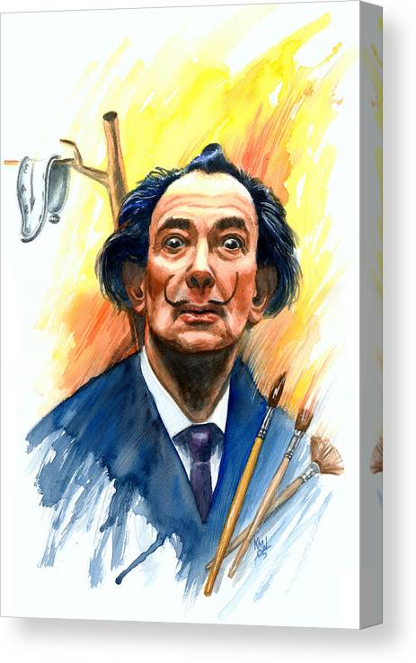 Salvador Dali Canvas Print featuring the painting Dali by Ken Meyer jr