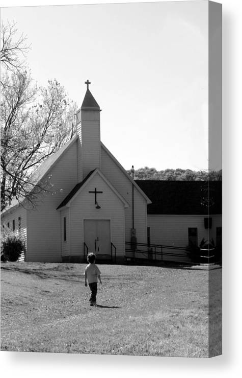 Canvas Print featuring the photograph E-to-the-church by Curtis J Neeley Jr