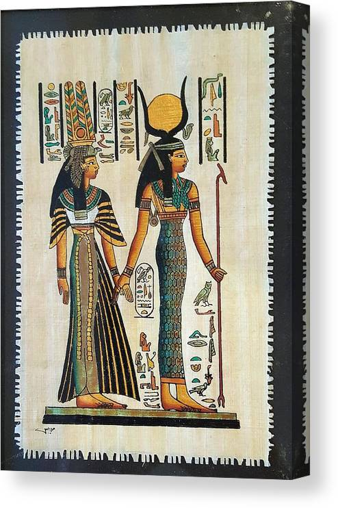 Temple Of Horus Canvas Print featuring the photograph Egyptian Papyrus by Rob Hans