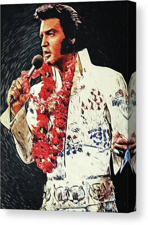 Elvis Presley Canvas Print featuring the digital art Elvis Presley by Zapista OU