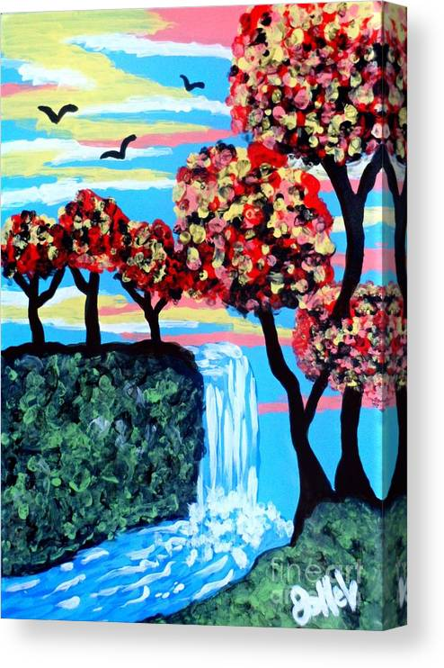 Prints Canvas Print featuring the mixed media Escape to Serenity by JoNeL Art