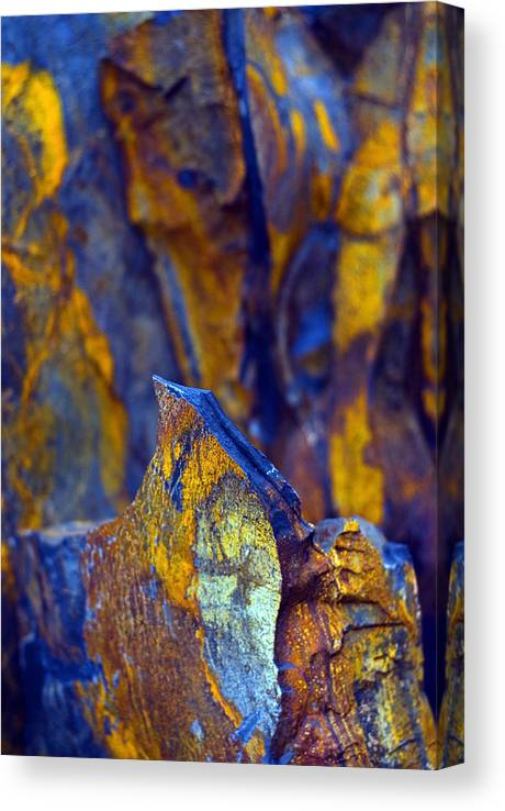 Texture Canvas Print featuring the photograph First Cut is the Deepest by Skip Hunt