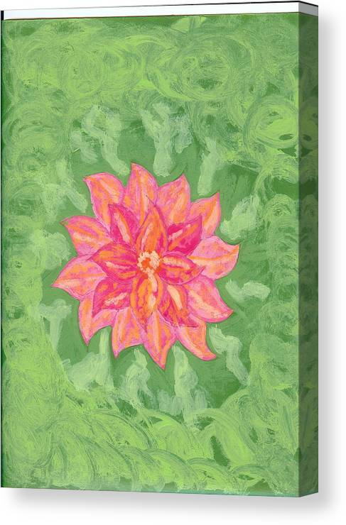 Flower Canvas Print featuring the painting Forget Me Not by Laura Lillo