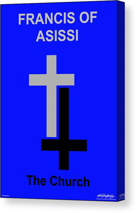 Francis Of Asissi Canvas Print featuring the digital art Francis of Asissi by Asbjorn Lonvig