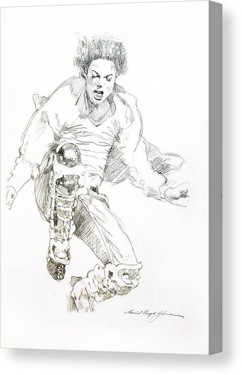 Michael Jackson Canvas Print featuring the drawing HiStory Concert - Michael Jackson by David Lloyd Glover