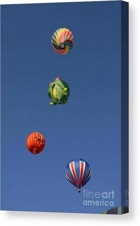 Hot Air Balloon Canvas Print featuring the photograph Hot Air Rally by Dennis Hammer
