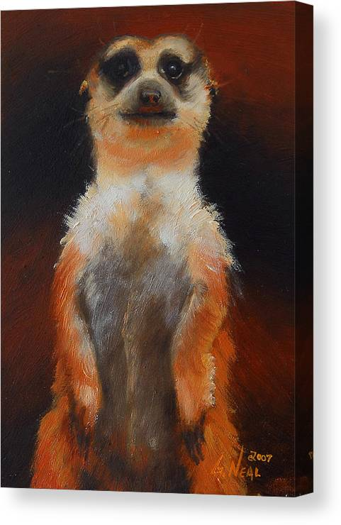 Oil Canvas Print featuring the painting I See You Too by Greg Neal