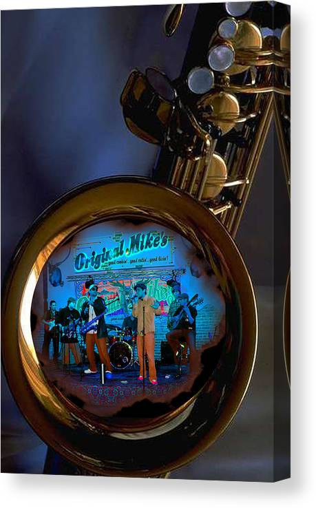 Music Canvas Print featuring the photograph Inner City Soul by Linda Kish
