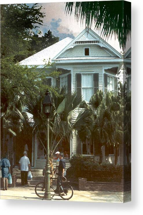 Historic Canvas Print featuring the photograph Keywest by Steve Karol
