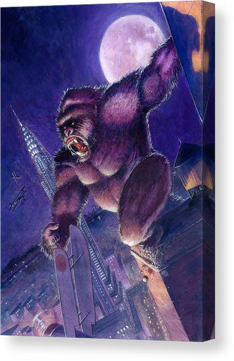 King Kong Canvas Print featuring the painting Kong by Ken Meyer jr