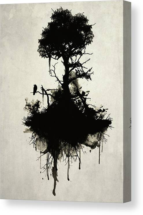 Nature Canvas Print featuring the painting Last Tree Standing by Nicklas Gustafsson