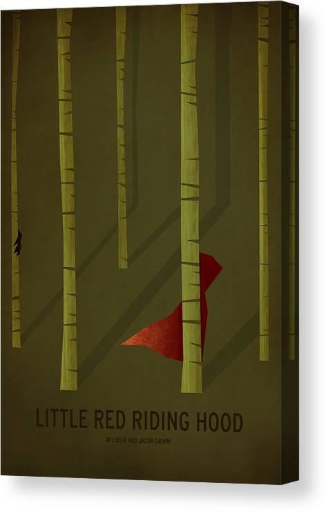 Stories Digital Art Canvas Print featuring the digital art Little Red Riding Hood by Christian Jackson
