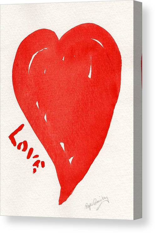 Love Canvas Print featuring the painting Love Is.... by Roger Cummiskey