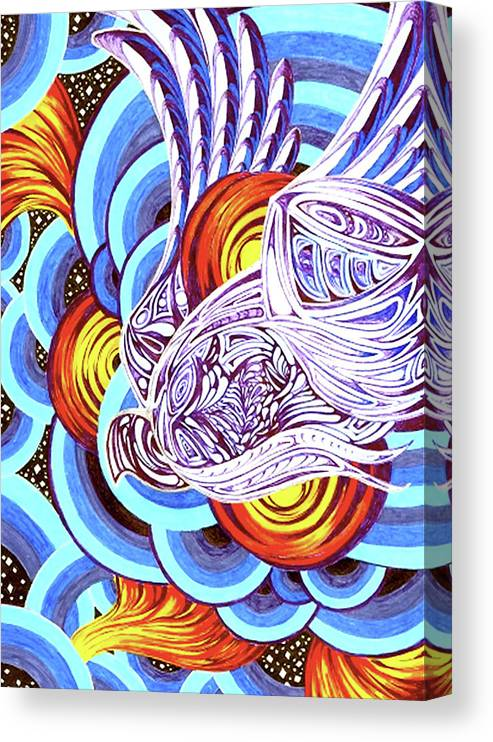 Spirit Canvas Print featuring the painting Mixed Emotions by Pam Ellis