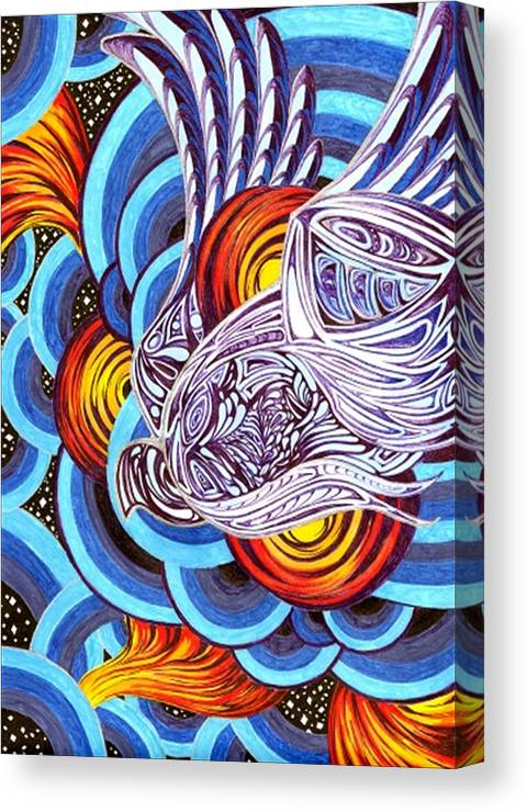 Meditative Canvas Print featuring the painting Mixed Emotions by Pam Ellis