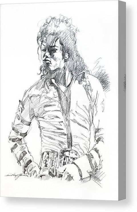 Michael Jackson Canvas Print featuring the drawing Mr. Jackson by David Lloyd Glover