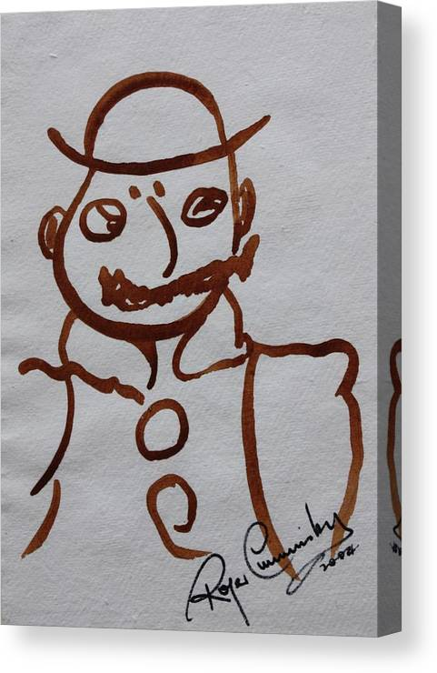 James Joyce Ulysses Canvas Print featuring the painting Mr Leopold Bloom by Roger Cummiskey
