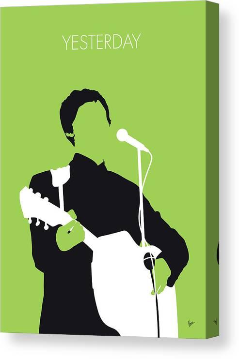 Paul Canvas Print featuring the digital art No076 MY PAUL MCCARTNEY Minimal Music poster by Chungkong Art