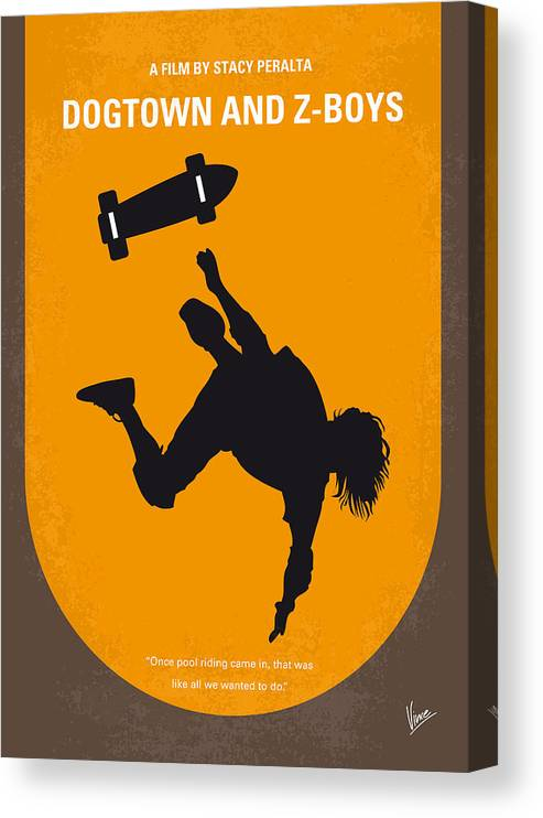 Dogtown Canvas Print featuring the digital art No450 My Dogtown And Z-boys Minimal Movie Poster by Chungkong Art