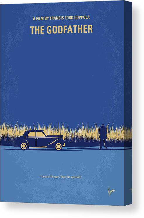 The Canvas Print featuring the digital art No686-1 My Godfather I minimal movie poster by Chungkong Art