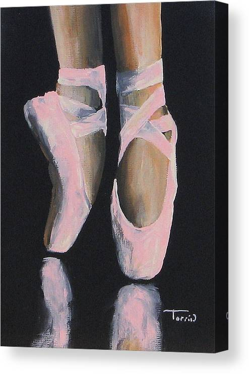 Ballet Canvas Print featuring the painting On Point by Torrie Smiley