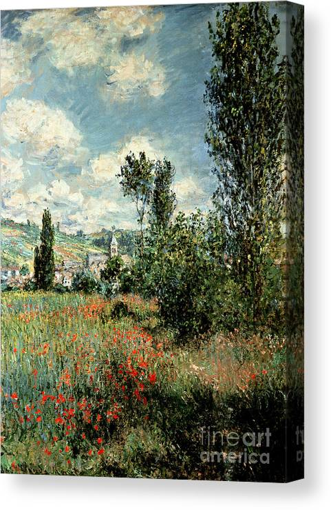 Path Canvas Print featuring the painting Path through the Poppies by Claude Monet