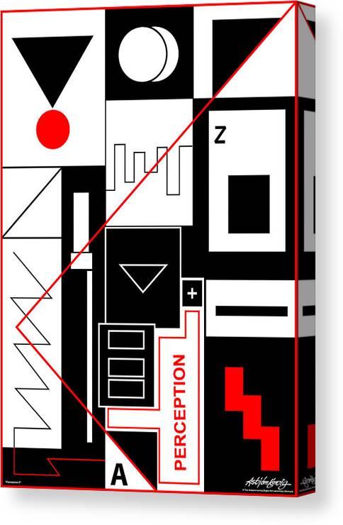 Perception Canvas Print featuring the digital art Perception II - Text by Asbjorn Lonvig