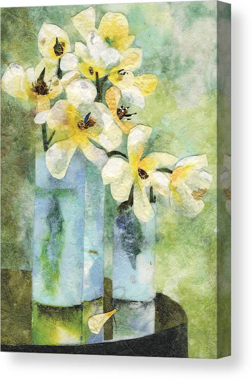 Limited Edition Prints Canvas Print featuring the painting Reflection by Nira Schwartz