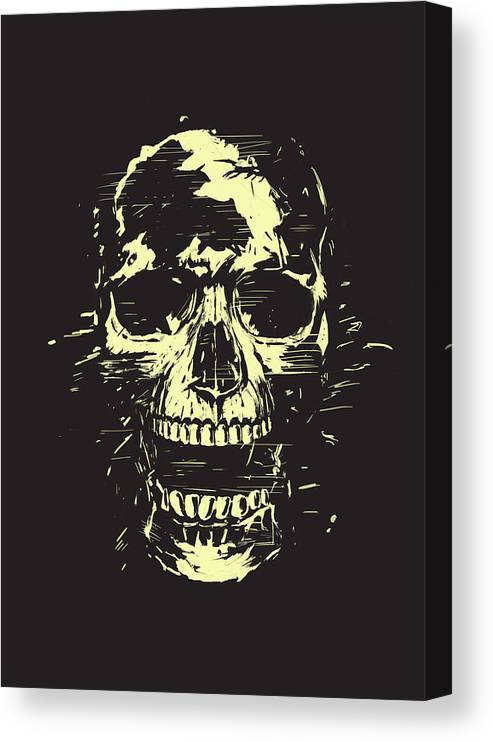 Skull Canvas Print featuring the mixed media Scream by Balazs Solti