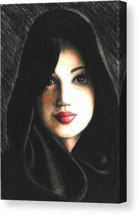 Portrait Canvas Print featuring the drawing Self Portrait in Cape by Scarlett Royal