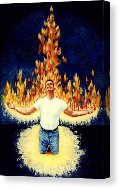 Holy Spirit Fire Canvas Print featuring the painting Set Aflame by Teresa Carter