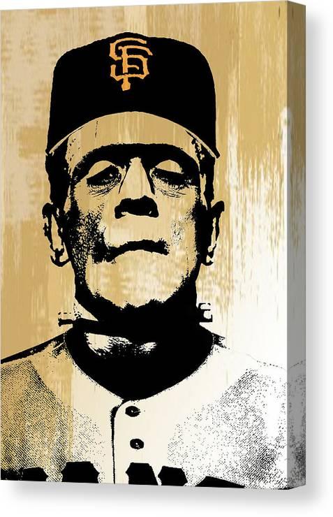 Frankenstein Canvas Print featuring the digital art SF Monster by Create Art