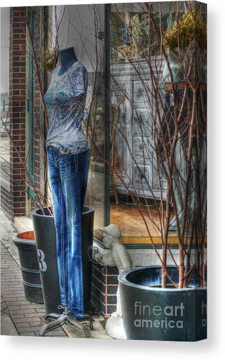 Mannequin Canvas Print featuring the photograph Size Six by David Bearden