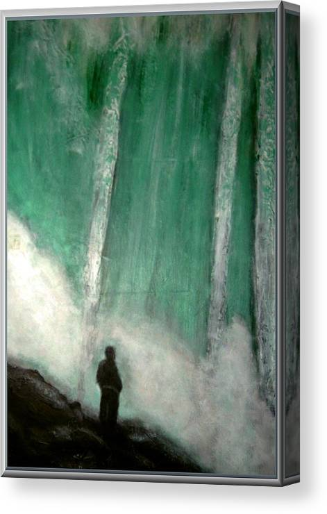 Landscape Canvas Print featuring the painting Standing in awe by Joseph Ferguson