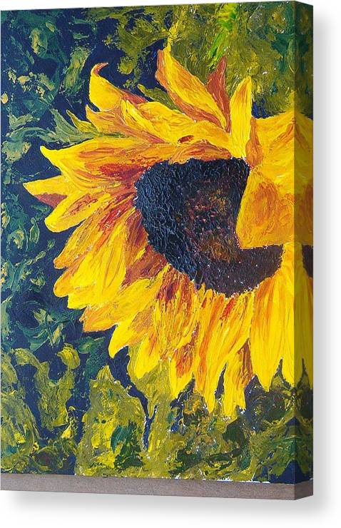 Canvas Print featuring the painting Sunflower by Tami Booher