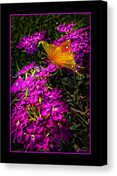 Flowers Canvas Print featuring the photograph The Garden Greeting Card by Kenneth Krolikowski