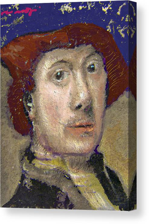 Portrait Canvas Print featuring the painting The Historian by Noredin Morgan