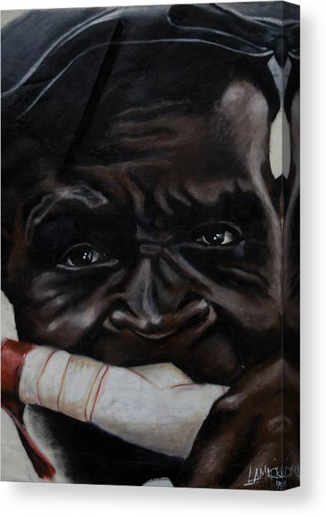 African Canvas Print featuring the pastel The Ivory Flute by Lamark Crosby