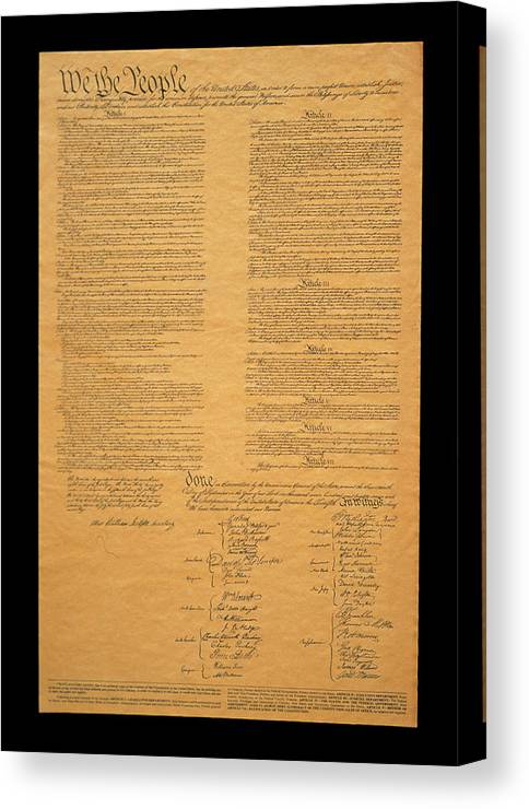 Photography Canvas Print featuring the photograph The Original United States Constitution by Panoramic Images
