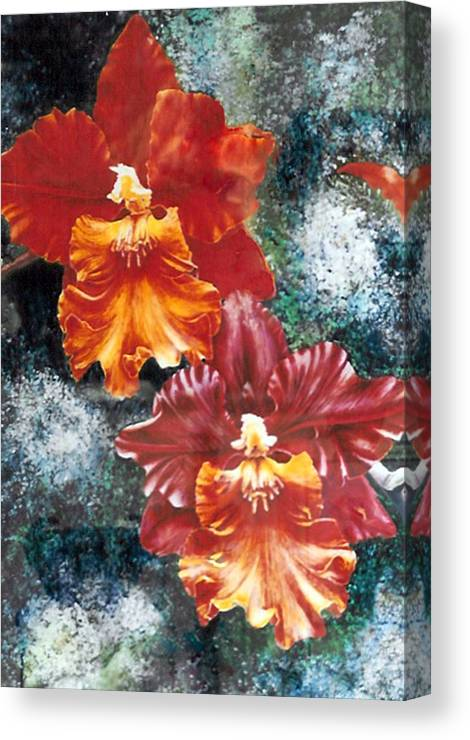 Flowers Canvas Print featuring the print Tiger Orchids by JoLyn Holladay
