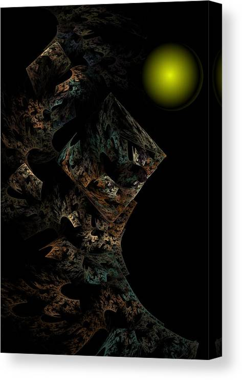 Fantasy Canvas Print featuring the digital art Untitled 12-18-09 by David Lane